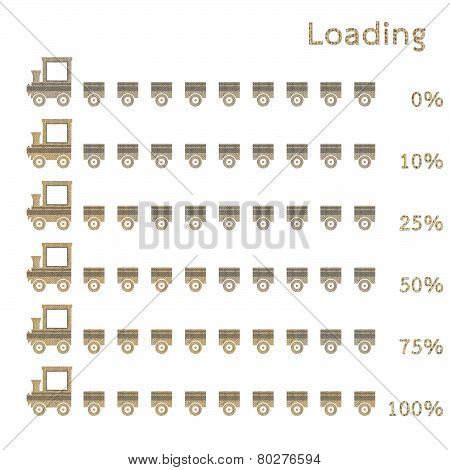 Train Preloaders And Progress Loading Bars