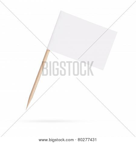 Blank White Flag.isolated On White Background