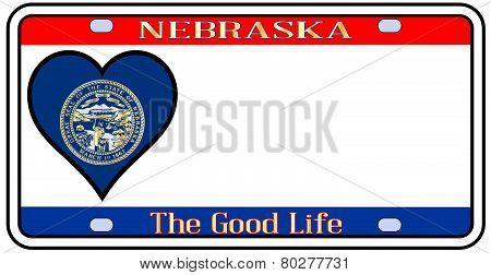 Nebraska License Plate