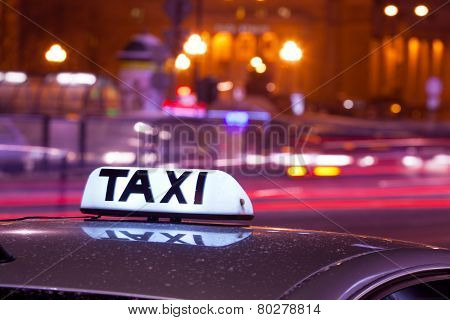 Shining Taxi inscription