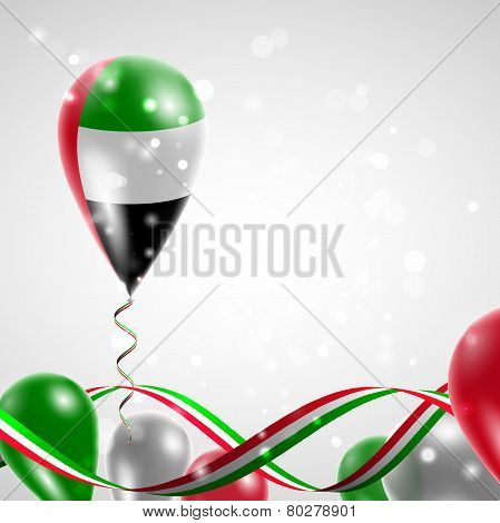 Flag of United Arab Emirates on balloon