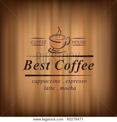 Best coffee background with coffee cup, coffee house