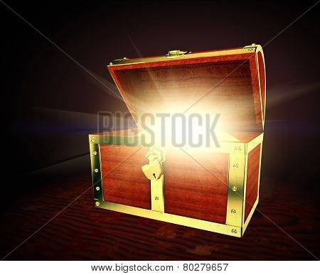 Old treasure chest