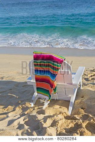 Beach Chair Near Ocean