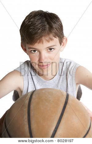 Youth Holding Basketball