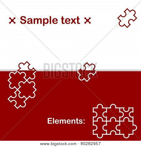 Background With Puzzle Elements
