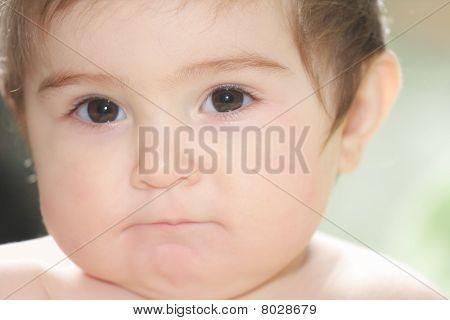 Retrato de lindo bebé