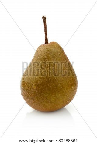 Single One Pear Called Manon Isolated On White