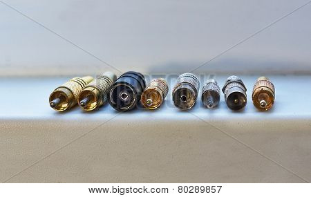 Various Connectors For Transmitting Rf Signals.