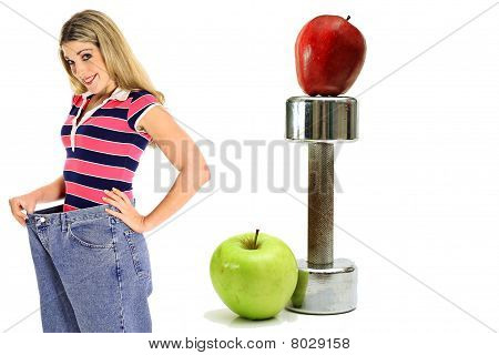 Weight Loss Workout Apples In Jeans Side