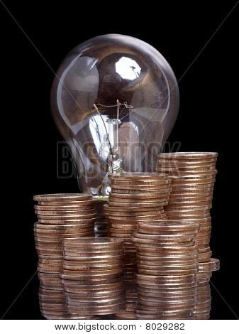 Lamp and money