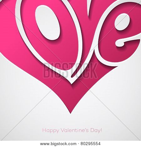 Valentines Card with love lettering