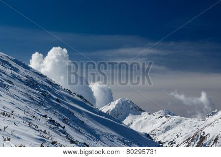 Mountains Covered With Snow In Pirin