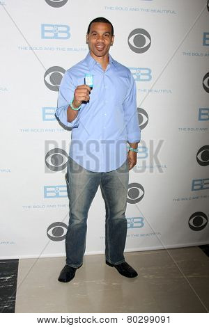 LOS ANGELES - JAN 14:  Aaron D. Spears as the Bold and Beautiful Celebrates 7000th Show at a CBS Television City on January 14, 2015 in Los Angeles, CA