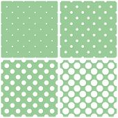 stock photo of mint-green  - Green background vector set with seamless patterns or textures - JPG
