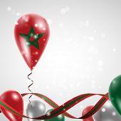stock photo of balloon  - Flag of Morocco on balloon - JPG
