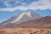 picture of eduardo avaroa  - Ollague volcano in Salar De Uyuni - JPG