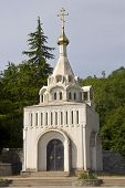 pic of mausoleum  - This is the Nativity church in Hurzuf  - JPG