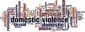 picture of torture  - Domestic violence word cloud concept - JPG