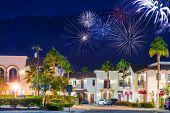 Old Town La Quinta Fireworks poster