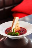 pic of cheesecake  - cheesecake with berry sauce - JPG
