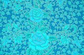 image of batik  - The flower Batik Thai traditional background style - JPG
