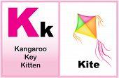 stock photo of letter k  - Alphabet letter K with clip - JPG