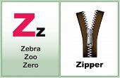 pic of kindergarten  - Alphabet letter Z with clip - JPG
