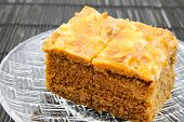picture of toffee  - Closeup of Toffee Cake on a plate - JPG
