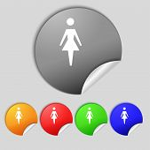 pic of female toilet  - Female sign icon - JPG