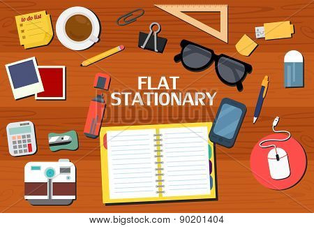 Flat Stationary