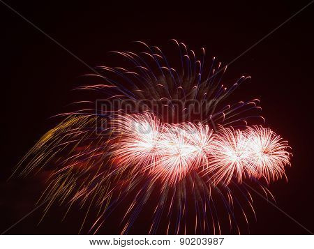 Bright Red Fireworks