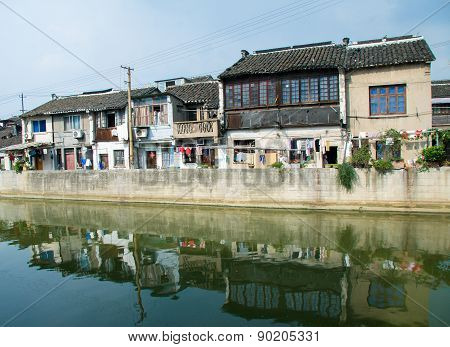 Grand Canal Through The Center Of Wuxi, Jiangsu Province, China