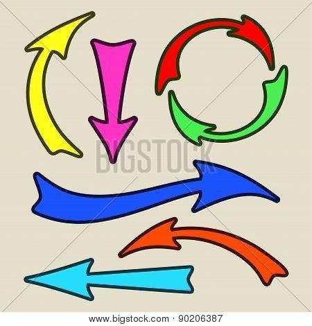Set of arrows.