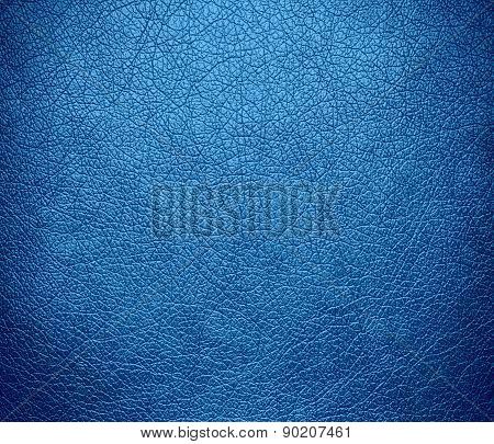 Celestial blue color leather texture background