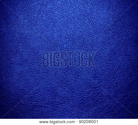 Cerulean blue color leather texture background