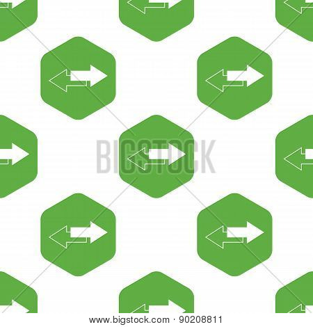 Straight opposite arrows pattern