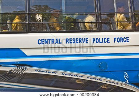 policemen in the bus