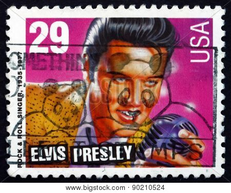 Postage Stamp Usa 1993 Elvis Presley, Singer And Actor