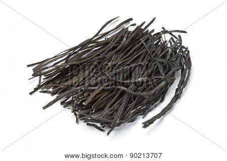 Black sea spaghetti on white background
