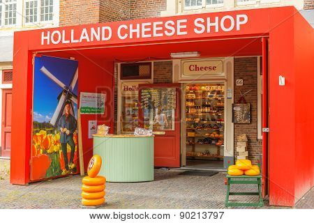Holland cheese shop in Amsterdam