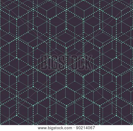 Seamless dotted 3D square background