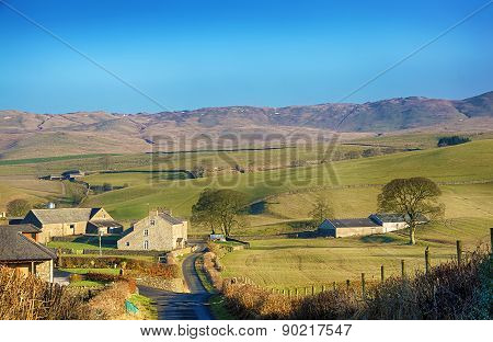 English rural scene near Grayrigg, Cumbria.