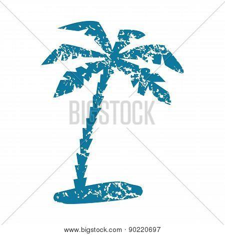 Palm grunge icon