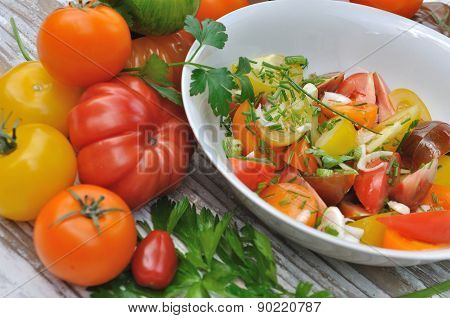 Tomatoes Salad With Different Colors