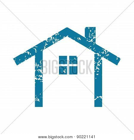 Simple house grunge icon