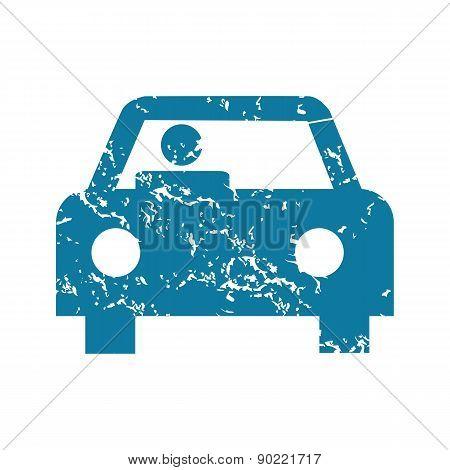 Driver grunge icon