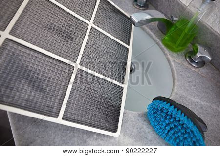 Dirty Dust Filters Of Air Conditioner
