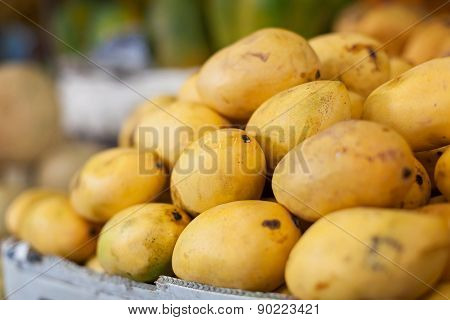 Mango Fruit On Asian Market