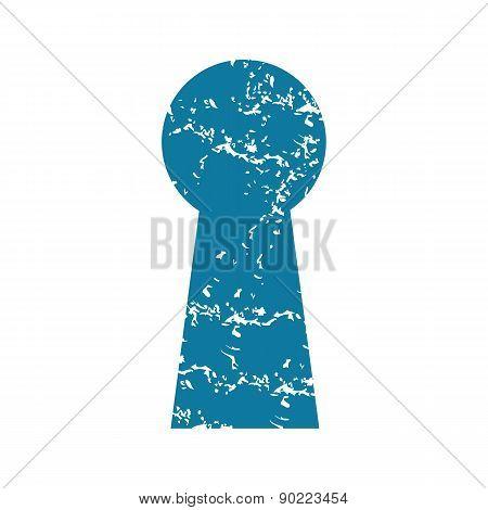 Keyhole grunge icon